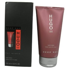 Deep red by hugo boss for women. perfumed body lotion 5.0 oz.