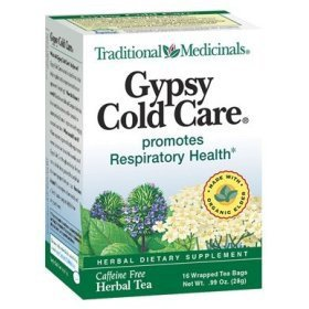 Traditional medicinals - herb tea, gypsy cold care 16 bag