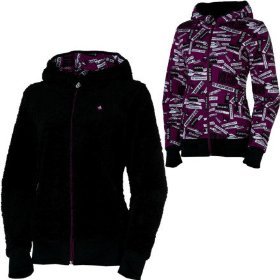 Volcom drexel fur reversible full-zip hooded sweatshirt - women's
