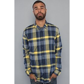Wesc the lanzo buttondown shirt in jazz blue,buttondown shirts for men