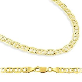 Solid 14k yellow gold gucci mariner chain necklace 4.3mm 24