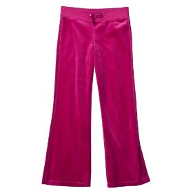 Girls' circo® pink velour lounge pants