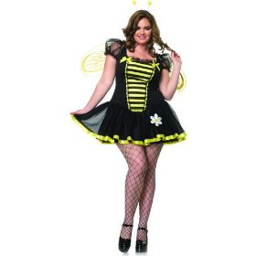 Bee sexy plus size holiday party costume