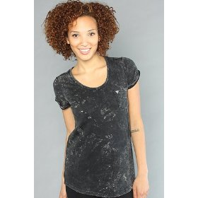 Lifetime collective the real times tee in black stonewash,t-shirts for women