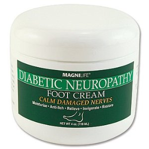 Magnilife Diabetic Neuropathy Foot Cream Calm Damaged Nerves 4 oz. Jar