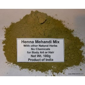 Henna Mehandi Herbal Mixed with Other Natural Herbs 250 grams bag (8.75 oz) For Hair Natural