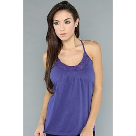 Ezekiel the chantilly tank in navy,tops (sleeveless) for women