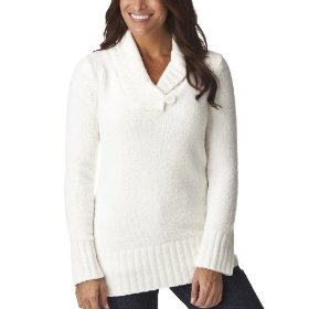 Merona® women's chenille shawl collar pullover sweater - polar bear