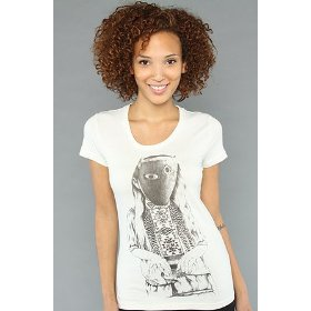 Lifetime collective the little girl tee in dirty white,t-shirts for women