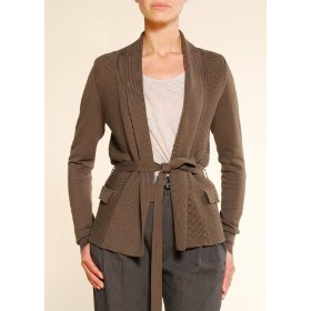 Mango women's belted lapel cardigan