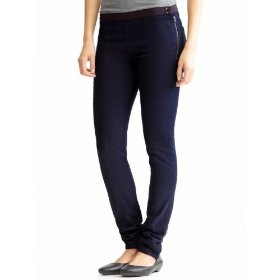 Banana republic petite denim exposed zipper legging