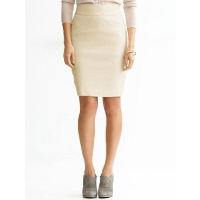 Banana republic petite boucl� pencil skirt