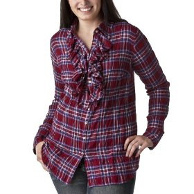 Women's plus-size converse® one star® red/blue long-sleeve fashion shirt