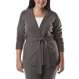 Womens' plus-size merona® heather gray long-sleeve hoodie sweater