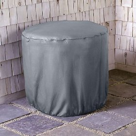 Weather wrap round central air conditioner covers