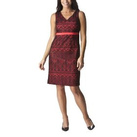 Merona® collection women's lace overlay odessa dress - lollipop red