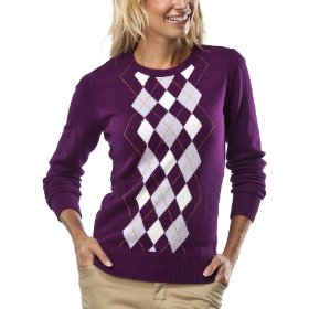 Merona® women's crewneck argyle sweater - purple