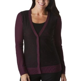 Merona® collection women's lara lace overlay sweater - plum passion