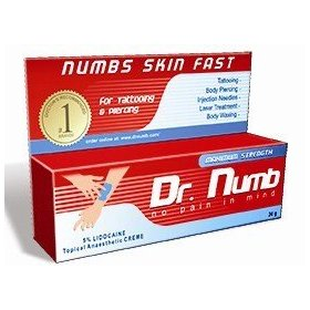 2 tubes dr. numb strongest topical numbing anesthetic cream 5% lidocaine