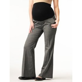 A pea in the pod: secret fit belly(tm) linen back pockets fit and flare maternity pants