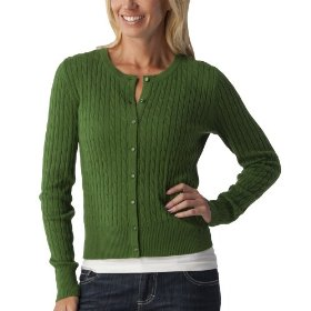 Merona® women's cable cardigan sweater - rosemary green