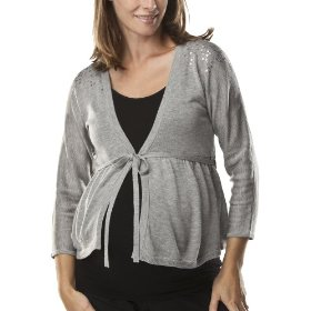 Liz lange® for target® maternity elbow-sleeve cardigan sweater -gray