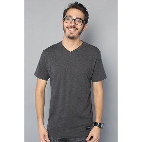 Nixon the tee vee marle in black,t-shirts for men
