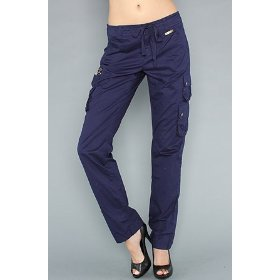 Luxirie by lrg the luxirie basic cargo pant in midnight,pants for women