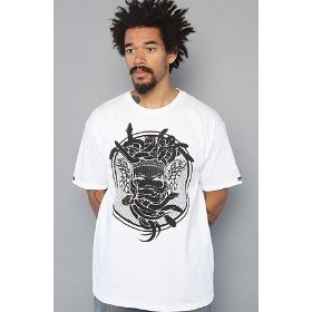 Crooks and castles the bentley medusa tee in white,t-shirts for men