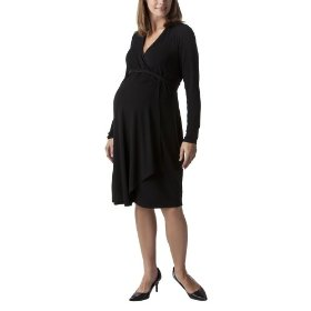 Liz lange® for target® maternity long-sleeve wrap dress - ebony