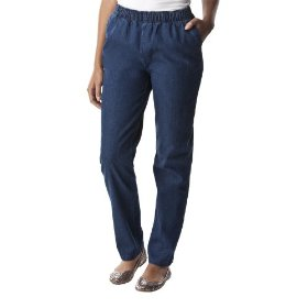 Cherokee® women's elastic waist pull on pant - denim