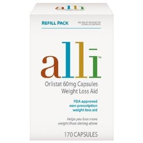 Alli - orlistat 60mg refill weight loss aid, 170 capsules