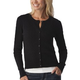 Merona® women's cable cardigan sweater - black