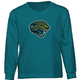 Reebok jacksonville jaguars long sleeve boys (4-7) faded logo t-shirt