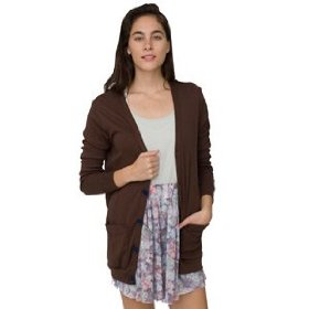 American apparel unisex solid rib oversized pocket cardigan