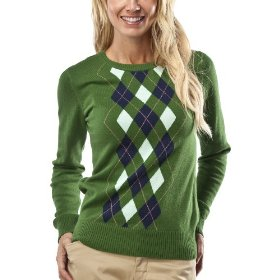 Merona® women's crewneck argyle sweater - green