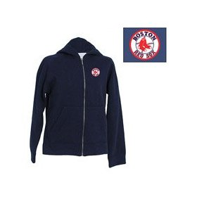 Boston red sox youth girls lucky zip front hoody by antigua
