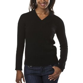 Merona® women's cashmere sweater - black