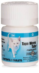 Tape Worms Tabs for cats