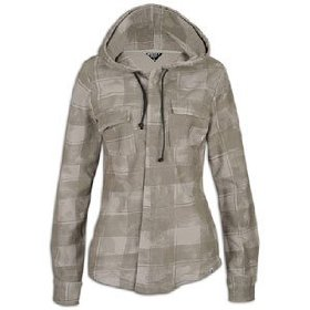 Roxy amped hooded buttondown - women's