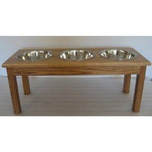 3 Bowl Traditional Style Pet Diner Size: Small (5