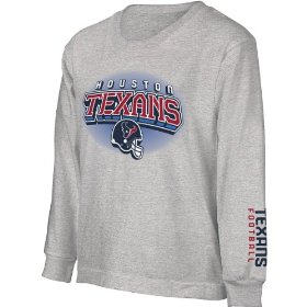 Reebok houston texans boys complex long sleeve t-shirt