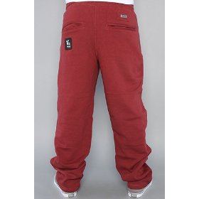 Lrg core collection the grass roots sweatpants in maroon,pants for men