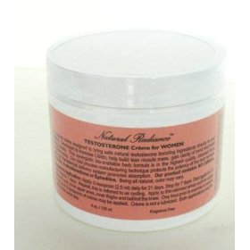 Testosterone (bio-identical) formulated for women 4 oz. jar - fragrance free/unscented & paraben fre