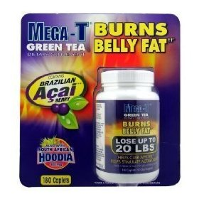 New mega t green tea with acai berry & hoodia thermogenic fat burning formula 180 caplets