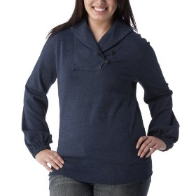 Women's plus-size converse® one star® navy heather shawl pullover fashion top