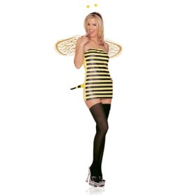 Women costume sexy bumble bee yellow/black