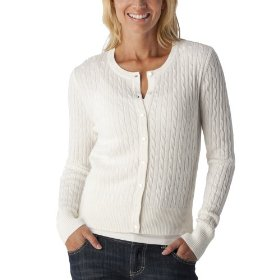 Merona® women's cable cardigan sweater - polar bear