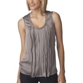 Mossimo® women's satin sleeveless top - earth gray