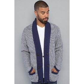 Wesc the hjalte cardigan in medium blue,sweaters for men